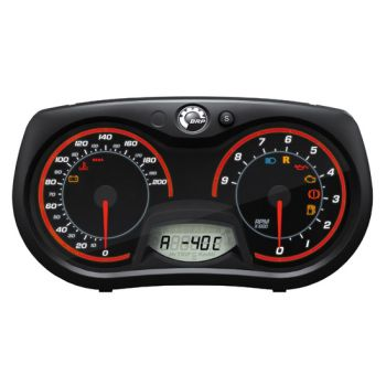 Ulkoilman ja moottorin lämpötilan mittari