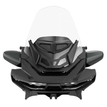 Adjustable Touring Vented Windshield - Clear
