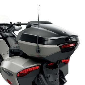 Top Case with Integrated Passenger Backrest - Black